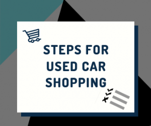 Steps for Used Car Shopping